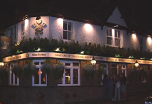 The Prince of Wales Pub Oatlands Weybridge Surrey at night